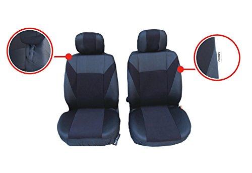 A1 2 voorste autostoelbekleding stoelhoezen beschermhoezen hoes universele set zwart