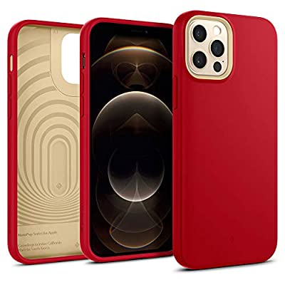 Caseology Nano Pop Silicone Case Compatible with iPhone 12 Pro Case Compatible with iPhone 12 Case (2020) - Red