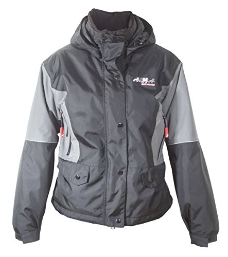 Karlslund Riding Equipment Erwachsene Reitjacke Winter, Black/Gray, M