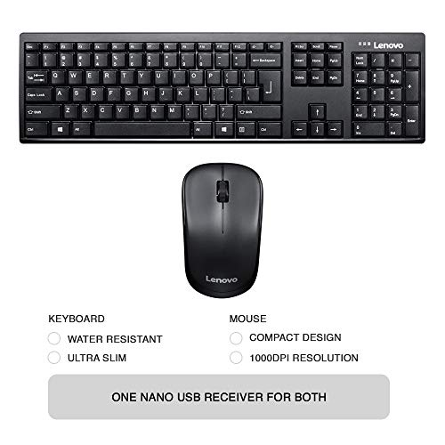 Lenovo 100 Wireless Keyboard & Mouse Combo