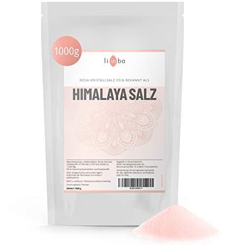 Rosa Kristallsalz – HIMALAYA SALZ fein • 1 kg Speisesalz • Pink Himalayan Salt • frei von Zusatzstoffen • Steinsalz aus Pakistan • in Deutschland von Hand abgefüllt