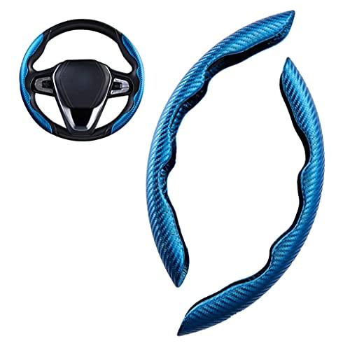 Compatible con Subaru EV XV WRC WRX Fundas para volante de coche Cubierta de Volante de Cuero de Fibra de Carbono, Antideslizante Volante De Coche Protector, Interior Auto