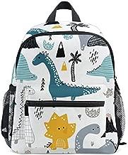 Cute Kid's Toddler Backpack Dinosaur Schoolbag for Boys Girls,Kindergarten Children Bag Preschool Nursery Travel Bag with Chest Clip((Dino Scandinavian Style))
