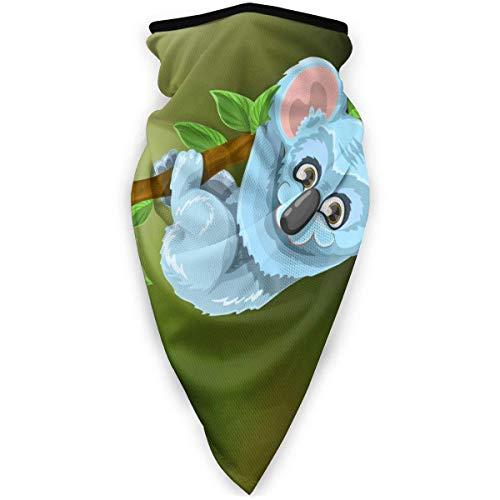DFGHG Máscara y respirador Máscara antipolvo plegable Protección facial Alergia antipolen Koala Animal Cute Tree Stick Leaf Green Blue Neck Gaiters UV Mask Sun Protection Bandana Scarf for Men