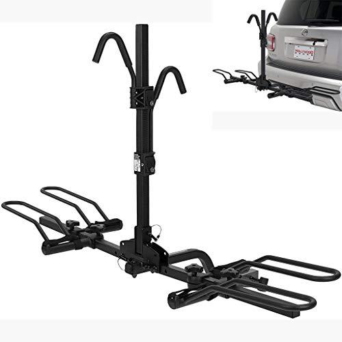 YYDE Bicycle Rack,Bike Rack for Hitch, Racks - 2-Bike Hitch Mounted Rack, for Car SUV And Truck Bike Rack, Black