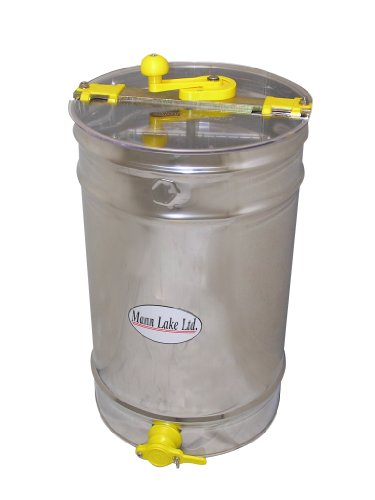 Mann Lake HH160 Stainless Steel 6/3-Frame Hand Crank Extractor without Legs