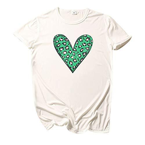 YANFANG Camiseta de Cuello Redondo Multicolor con Estampado de Leopardo Informal de Moda para Mujer,Baratas Jersey Casual Camiseta Otoño Invierno Sudaderas Blusa Tops Pullover