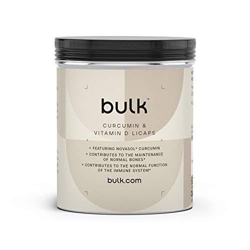 Bulk Curcumin and Vitamin D3 Capsules, Pack of 60, Packaging May Vary