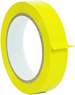 WOD CVT-536 Yellow Vinyl Pinstriping Dance Floor Tape, Safety Marking Floor Splicing Tape (Also Available in Multiple Sizes & Colors): 1 in. wide x 36 yds. (Pack of 1)