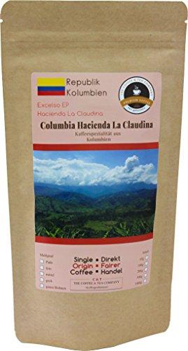 Kaffee Globetrotter - Kaffee Mit Herz - Colombia Hacienda La Claudina - 1000 g Ganze Bohne - für Kaffee-Vollautomat, - Spitzenkaffee Aus Kolumbien Fair Gehandelt Unterstützt Soziale Projekte