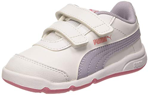 Puma Unisex Kinder Stepfleex 2 Sl Ve V Inf Sneakers, Weiß White Purple Heather Peony 12, 21 EU