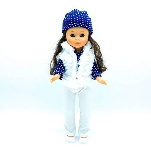 Folk Artesanía Ropa, complementos, Zapatos Percha para muñeca Nancy clásica Famosa. Fabricado en España Muñeca no incluida en el Lote. Mod 21-03N (Lote Ropa+Abrigo)