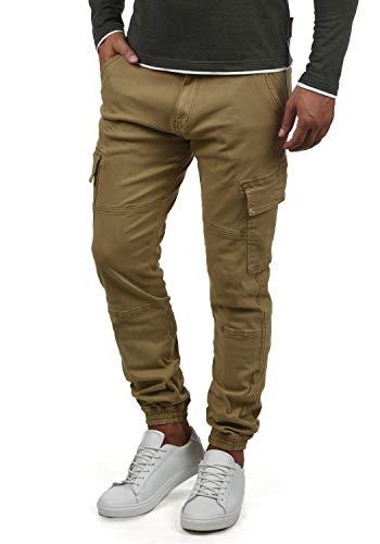 Indicode Bromfield Herren Cargohose Lange Hose mit Taschen, Größe:M, Farbe:Amber
