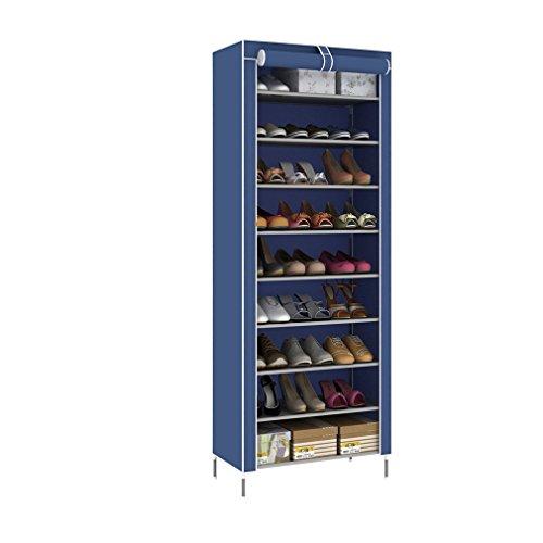 blackpoolal 10capa zapatero estrecho estante para zapatos Zapatero Zapatero Plástico Guantes Estantería para 30pares de zapatos (Azul)