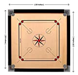 Narang Enterprises Wooden Carrom Board with Coins, 1 Striker & Carrom Powder | 20' Inches( Brown)