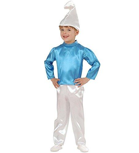 Costume Carnevale Bimbo travestimento bambino nano blu puffo *19955-2/3 anni