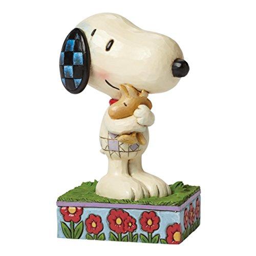 Peanuts by Jim Shore Statuetta, Immagine di Snoopy e Woodstock Che Si abbracciano.
