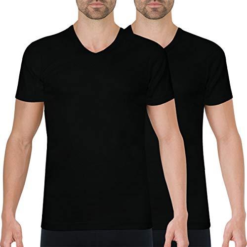 Athena Pack 2 T-shirts Decote V Preto / Preto - 350130265