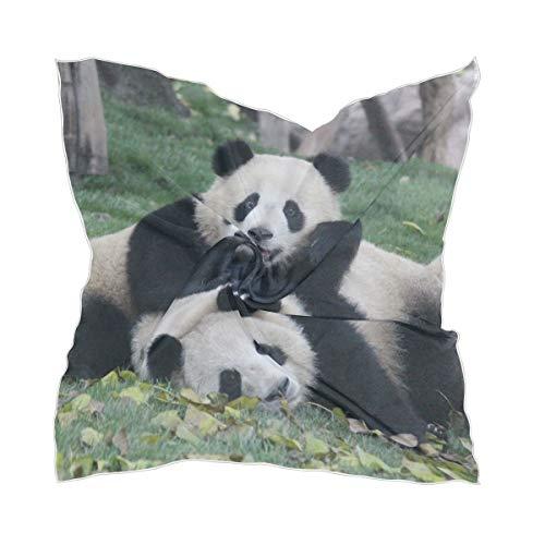 Zijden sjaal Sheer Lightweight schattige dieren Playing Headpiece Chiffon zakdoek dun