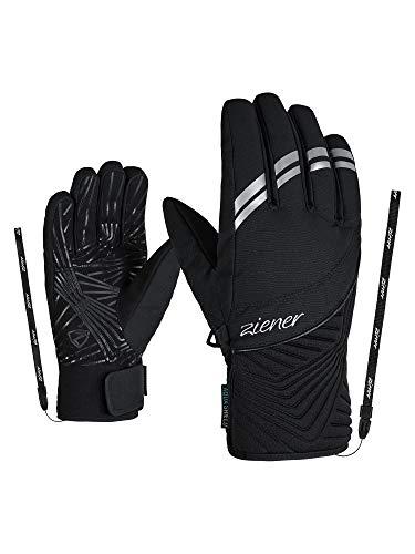 Ziener Damen KIWA AS Ski-Handschuhe/Wintersport   Wasserdicht, Atmungsaktiv, Black, 7