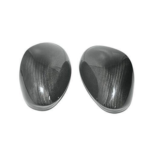 NIUASH Cubierta de Espejo retrovisor de Fibra de Carbono Negra 1 par de Cubierta de Espejo retrovisor, para Alfa Romeo Giulia Stelvio 2017-2020