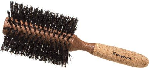 Regincós Haar-Rundbürste 20529 Mischborste, Holzkörper mit Korkgriff, 16-reihig, 29/ 80 mm