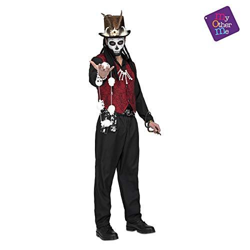 My Other Me Voodoo-Kostüm für Herren Voodoo-Priester Halloween-Kostüm rot-schwarz M / L