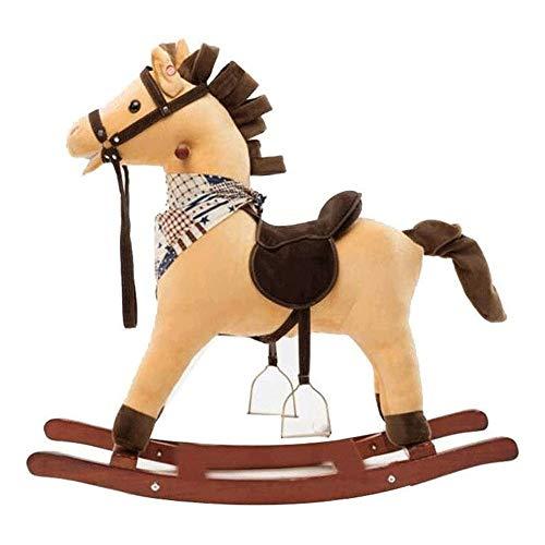 XWX Rocking Horse Hölzerne Pferd Rocking Horse Baby Kleines Hölzernes Pferd Dual-Spezial-Rad-Spielzeug-Geschenk
