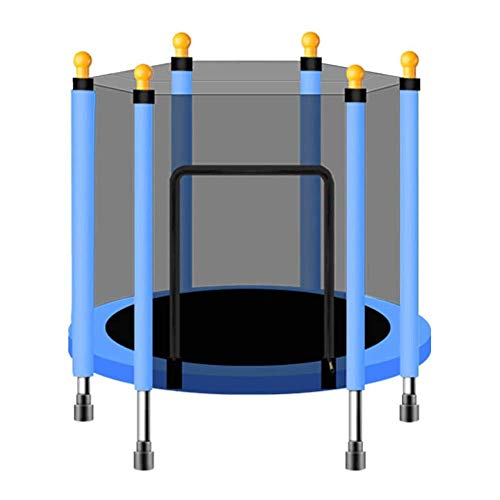 W.KING Mini-trampoline met veiligheidsnet voor kinderen, lentebed/beugeltafel voor binnen voor kind Fitness Oefening geschenk, beer 200 kg