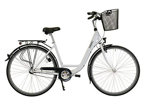 Hawk City Wave Premium Plus - Cesto para bicicleta (incluye cesta), color Blanco, tamaño 26 pulgadas, tamaño de rueda 26.0
