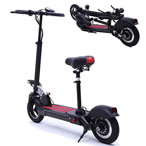 WLDOCA Scooter eléctrica Plegable para Adultos y Adolescentes, 500W Motor 18 Miles de Largo Alcance-bateria, el Asiento extraíble Ajustable, Ligero y fácil de Llevar E-Scooter con Pantalla