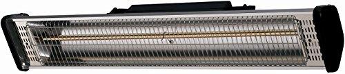 CasaTherm Infrarot Heizstrahler S1800 Gold Fernbedienung IP55, Silber, 1800 Watt - 2