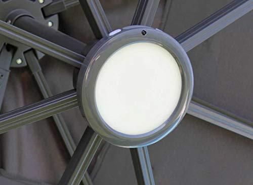 Proloisirs Luminaire LED Rechargeable - Parasol déporté - Fixation baïonette