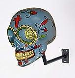 H-SKULL Support pour Casque tête de Mort. (Mexican Blue)