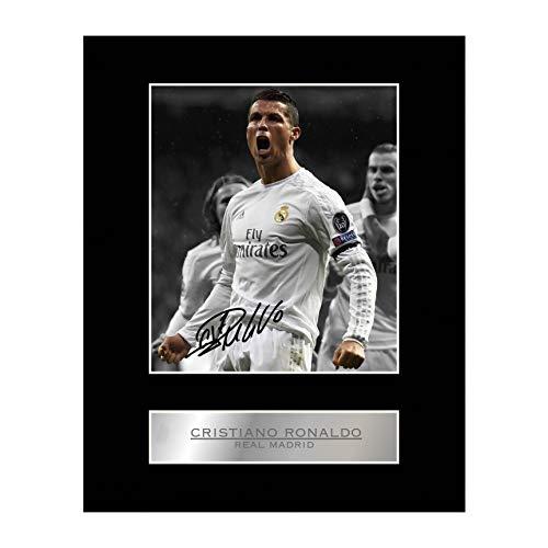 Foto firmada de Cristiano Ronaldo del Real Madrid