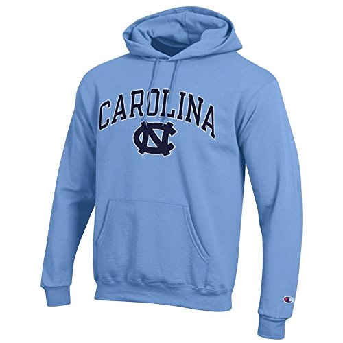 Elite Fan Shop North Carolina Tar Heels Hooded Sweatshirt Varsity Blue - Large