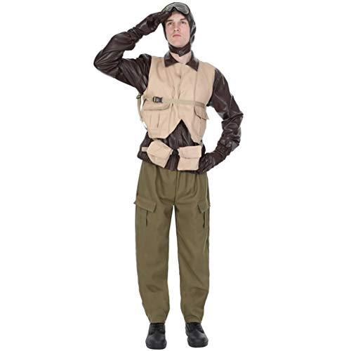 ORION COSTUMES Herren 1940er Jahre WW2 Kampfflieger Pilot Militäruniform Kostüme