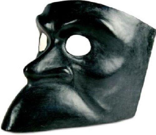 Venezianische Maske Bauta nera in schwarz zu Karneval Fasching