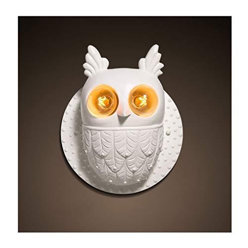 SX-ZZJ L&J&F Lámpara de Pared Creative Resin Owl Living Room Dormitorio de la habitación de los niños Lámpara de Pared