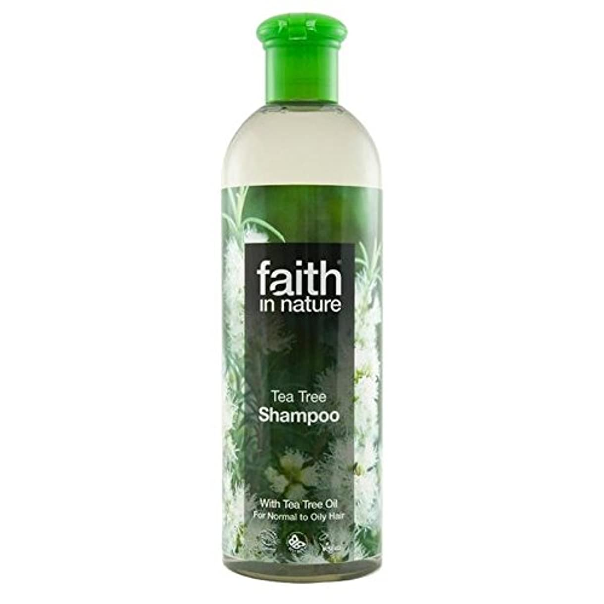 シンプルさ方法断言するFaith in Nature Tea Tree Shampoo 400ml (Pack of 6) - (Faith In Nature) 自然のティーツリーシャンプー400ミリリットルの信仰 (x6) [並行輸入品]