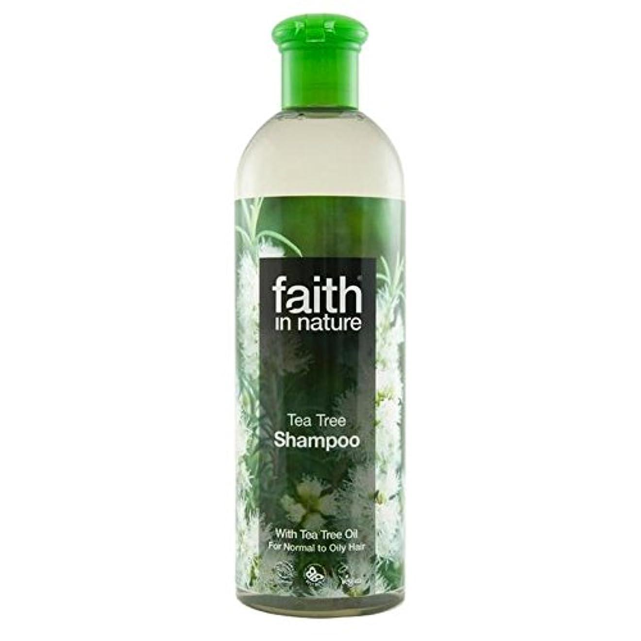 枯れる放射する硬いFaith in Nature Tea Tree Shampoo 400ml (Pack of 4) - (Faith In Nature) 自然のティーツリーシャンプー400ミリリットルの信仰 (x4) [並行輸入品]