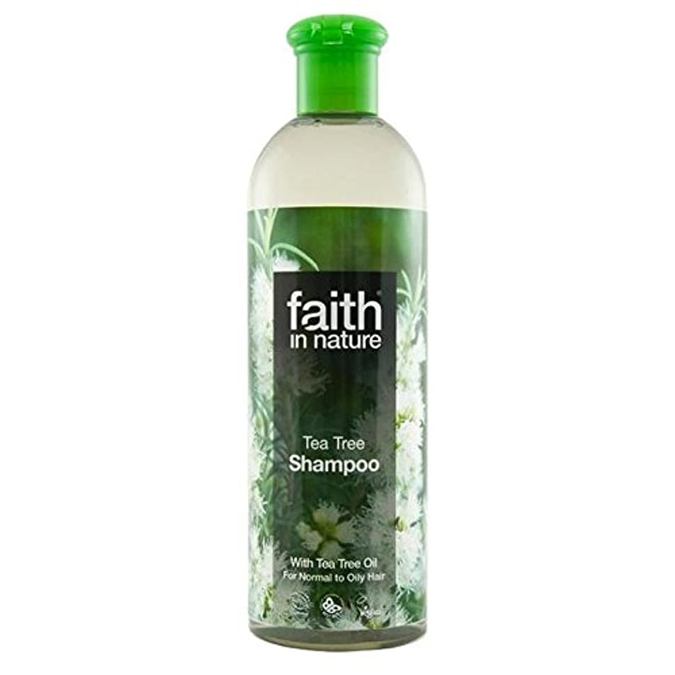 放棄するボリューム紫のFaith in Nature Tea Tree Shampoo 400ml (Pack of 4) - (Faith In Nature) 自然のティーツリーシャンプー400ミリリットルの信仰 (x4) [並行輸入品]