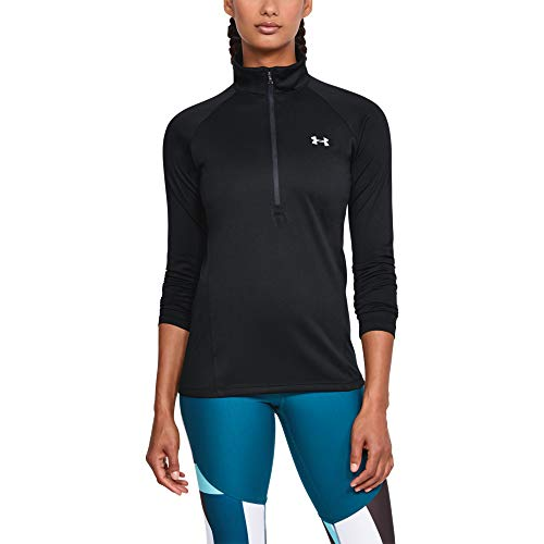 Under Armour Damen Oberteil Tech 1/2 Zip - Solid, Schwarz, MD, 1320126-001