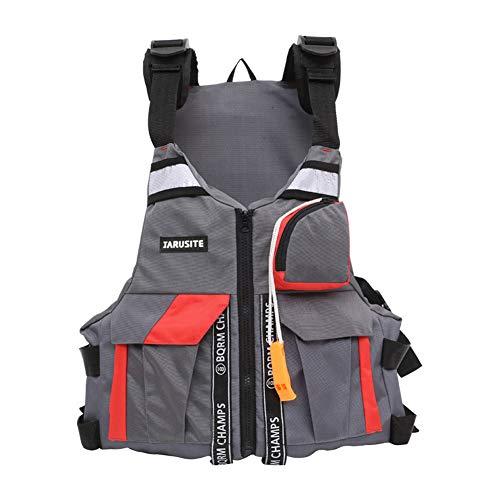 Bonbela Mutifunctional Adulto Ajustable flotabilidad del Chaleco Ayuda Natación Náutica Vela Pesca Kayak Chaqueta Salvavidas Chaleco de Pesca