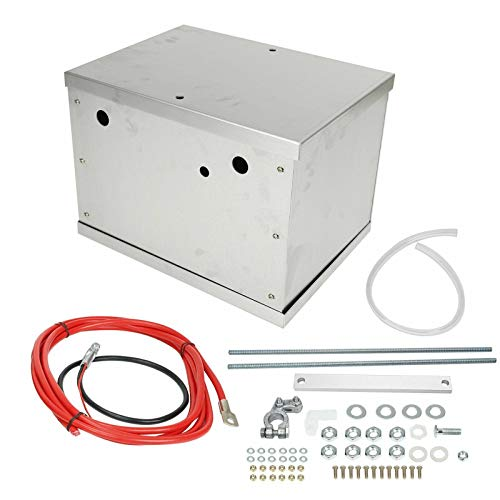 Complete Aluminum Battery Box Relocation Kit Compatible with 1979-2014 Ford Mustang