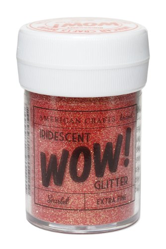 Glitter- Iridescent -Scarlet by American Crafts