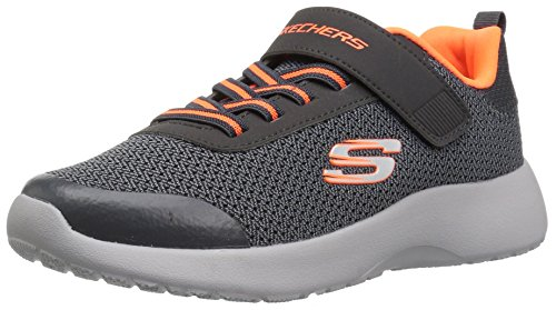 Skechers Dynamight Ultra Drehmoment Jungs Spitze Band Trainer 33 EU Charcoal/Orange
