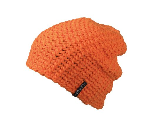 Myrtle Beach Uni Oversize Häkelbeanie, orange, One size, MB7941 or