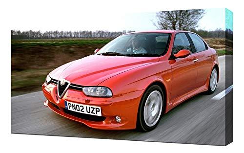 Lilarama 2002-Alfa-Romeo-156-GTA-V5-1080 - Art Leinwandbild - Kunstdrucke - Gemälde Wandbilder