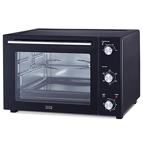 Four multifonction 58L chaleur tournante tournebroche grill 2000W ARIZONA noir 5 programmes de cuisson avec minuterie et accessoires